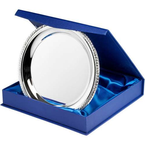 Silver Plated Salver Round in Presentation Box SP1