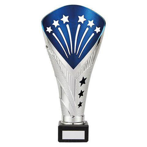 All Stars Super Rapid Trophy Silver & Blue TR19527