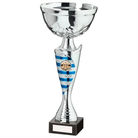 Commander Cup Silver & Blue 300mm
