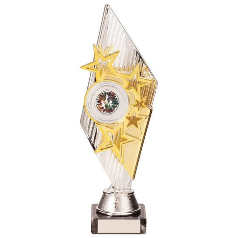 Pizzazz Plastic Trophy Silver & Gold 270mm