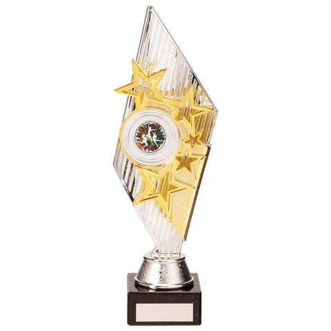 Pizzazz Plastic Trophy Silver & Gold 280mm