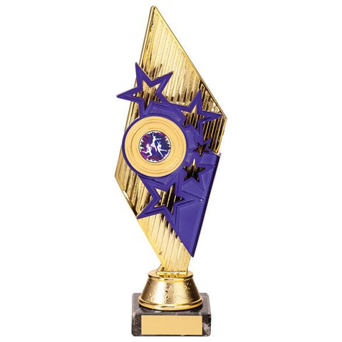 Pizzazz Plastic Trophy Gold & Purple TR20525