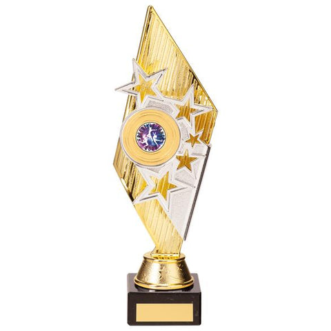 Pizzazz Plastic Trophy Gold & Silver 280mm