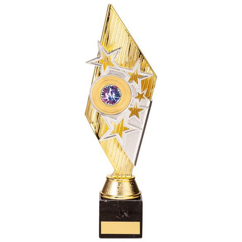 Pizzazz Plastic Trophy Gold & Silver 300mm