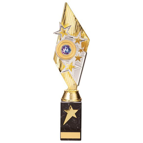 Pizzazz Plastic Trophy Gold & Silver 350mm