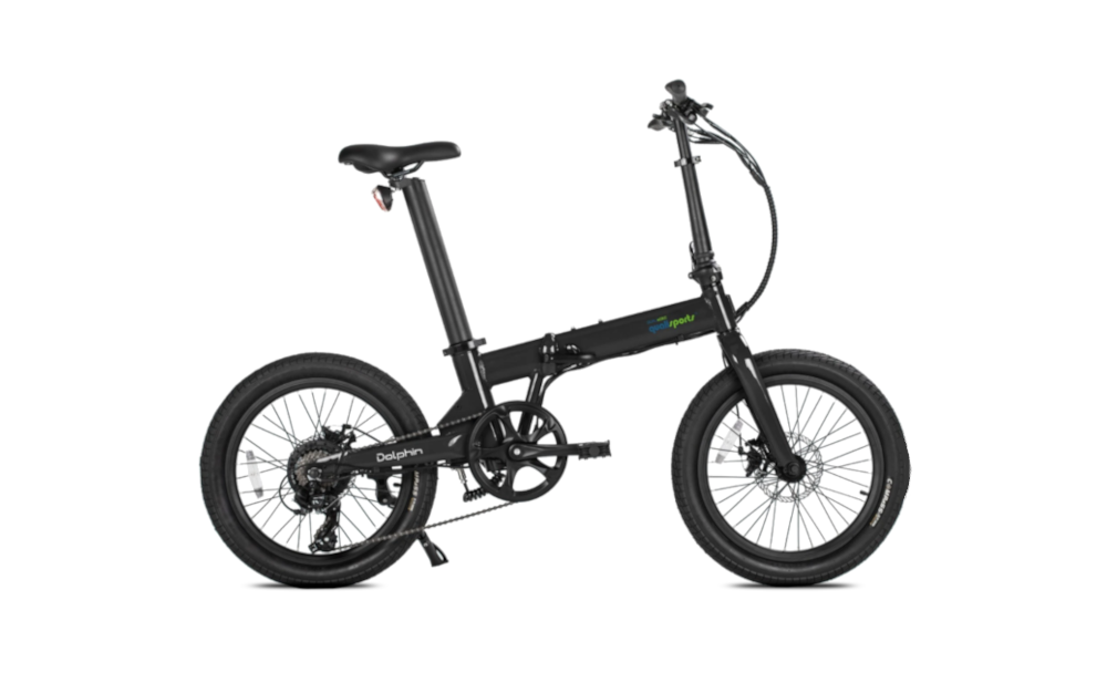 QUALISPORTS Dolphin, Folding Electric Bicycle, 350w 36v