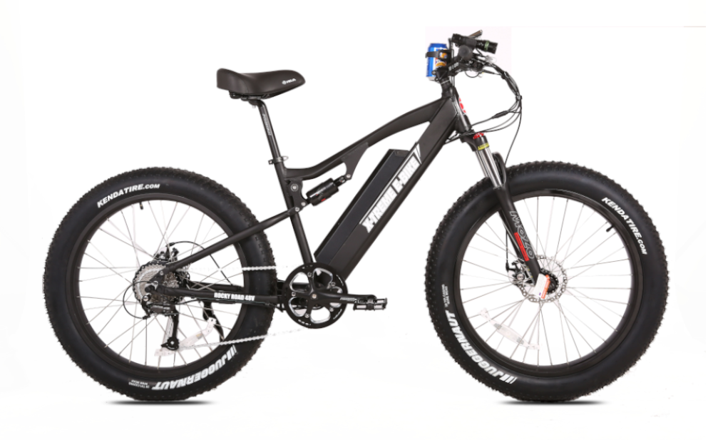 X-TREME Rocky Road, Fat Tire Electric Mountain Bike, 500w 48v (10.4 ah Battery)