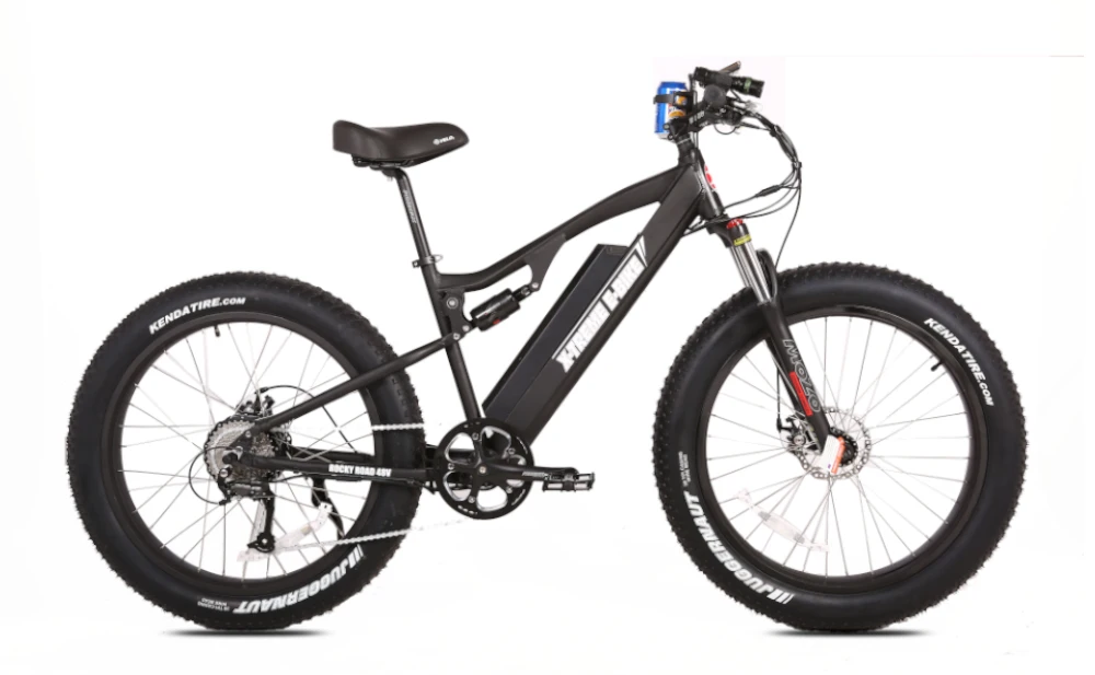 X-TREME Rocky Road, Fat Tire Electric Mountain Bike, 500w 48v (17 ah Battery)