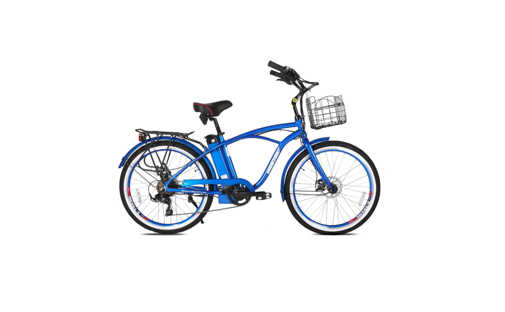 X-TREME Newport Elite Max, Beach Cruiser Electric Bike, 350w 36v