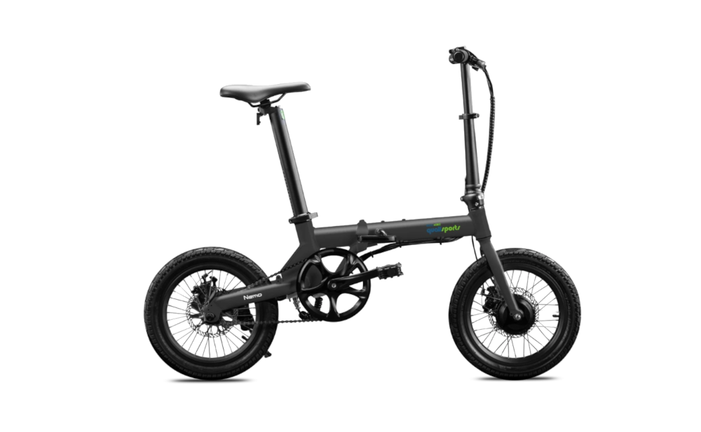 QUALISPORTS Nemo, Small Folding Electric Bicycle, 250w 36v