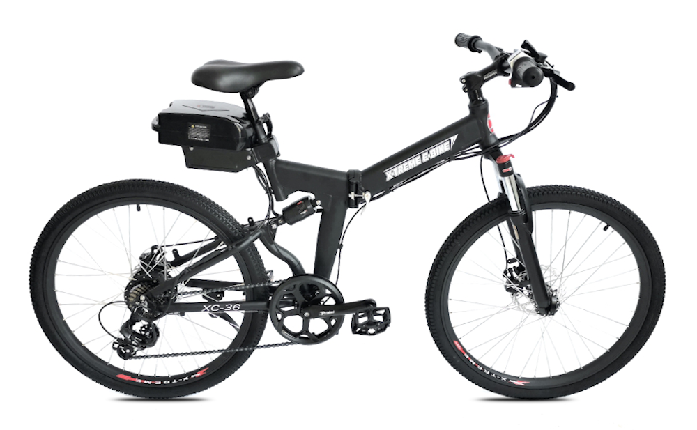 X-TREME XC-36, Folding Electric Mountain Bike, 350w 36v