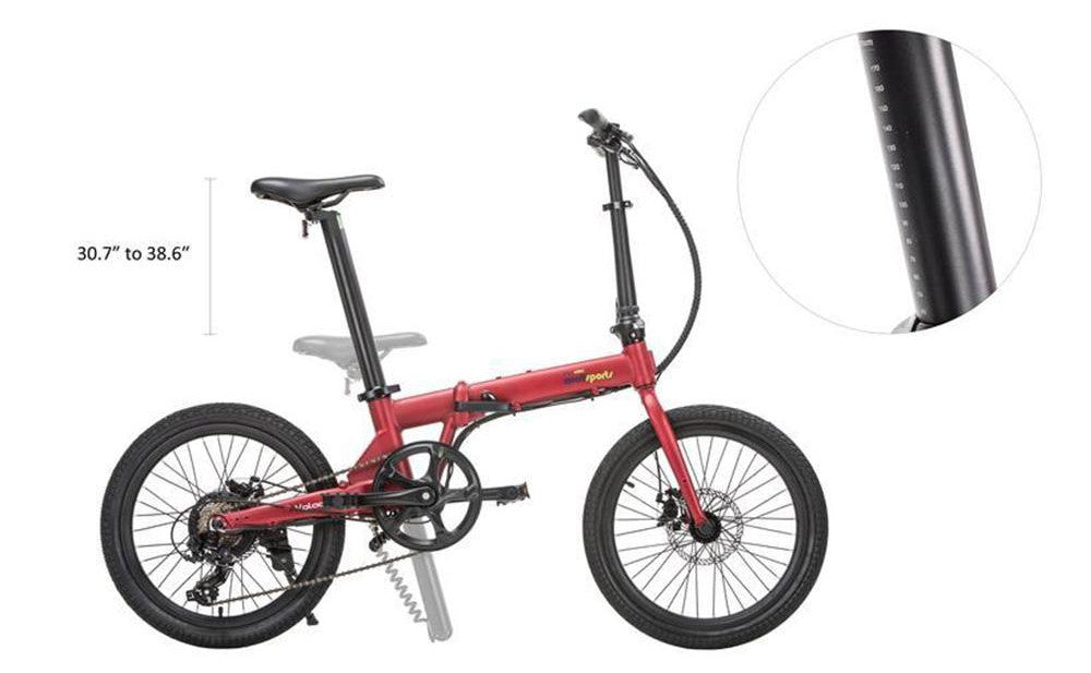 QUALISPORTS Volador, Folding Electric Bicycle, 350w 36v