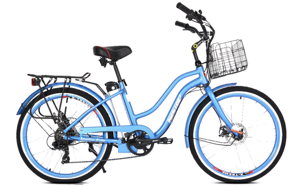 X-TREME Malibu Elite, Beach Cruiser Electric Bike, 300w 24v