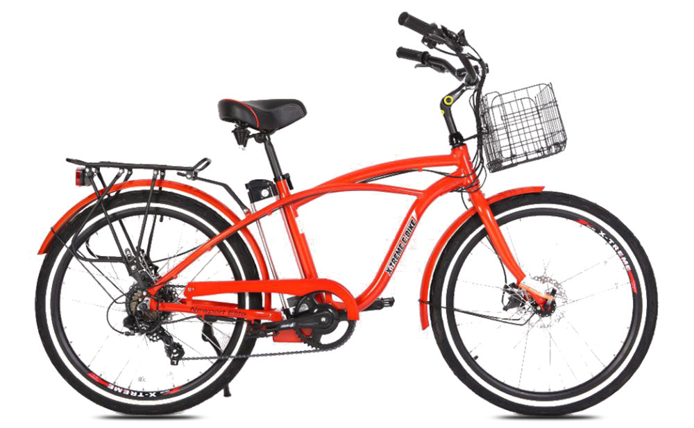 X-TREME Newport Elite, Beach Cruiser Electric Bike, 300w 24v