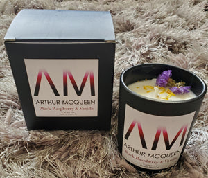 Black Raspberry & Vanilla Scented Soy Candle