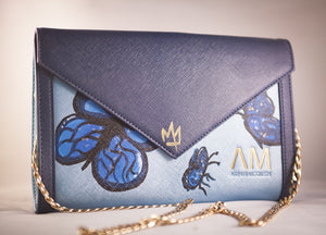 Mr. Artstsk Hand Painted Butterfly Carmen Clutch