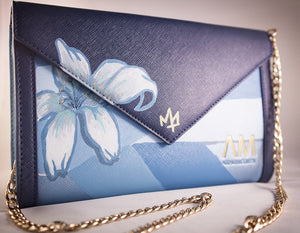 Mr. Artstk Hand Painted Floral Carmen Clutch