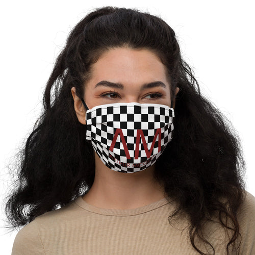 Arthur McQueen Checkerboard Premium Face Mask