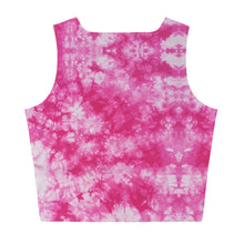 Load image into Gallery viewer, Tie Dye Crop Tee - Dark Pink