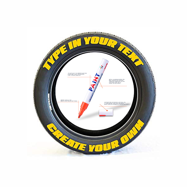 Take Pride in Your Tires! - Waterproof, Non-Fading Tire Paint Pen