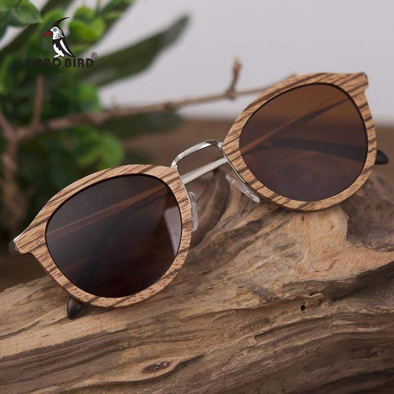 BOBO BIRD Natural Wooden Sunglasses