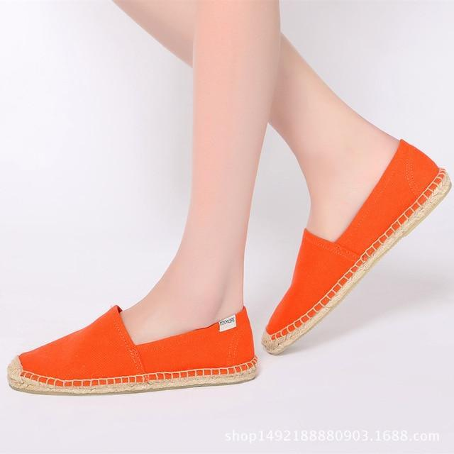 New Fashion Embroidery Comfortable Ladies Womens Casual Espadrilles Shoes