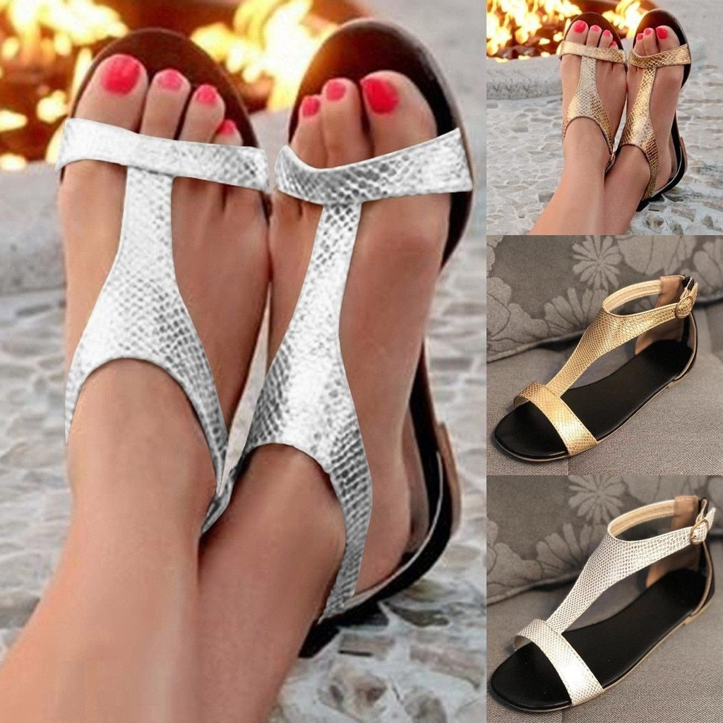 Women's Sandals  Ladies Shoes Open Toe Breathable Beach Buckle Strap Sandals