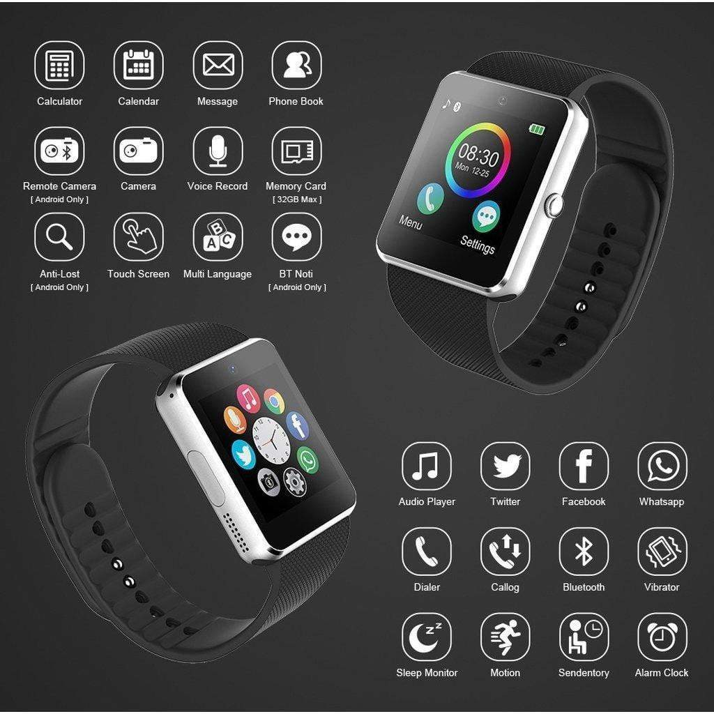 Bluetooth Smartwatch Phone Watch Camera Touch Screen