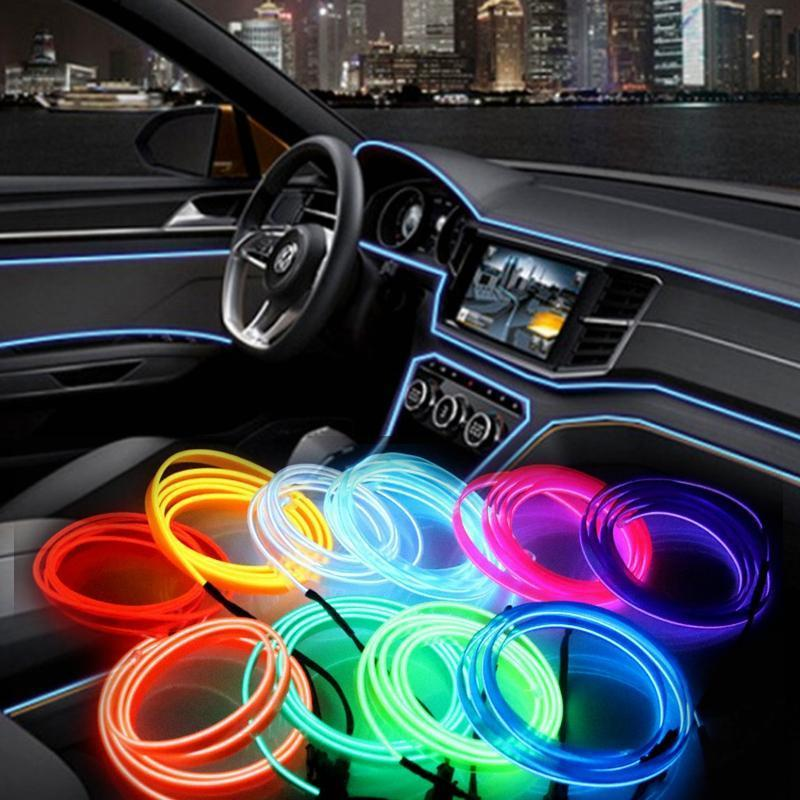 Car Interior Lighting LED Strip Flexible Neon Light