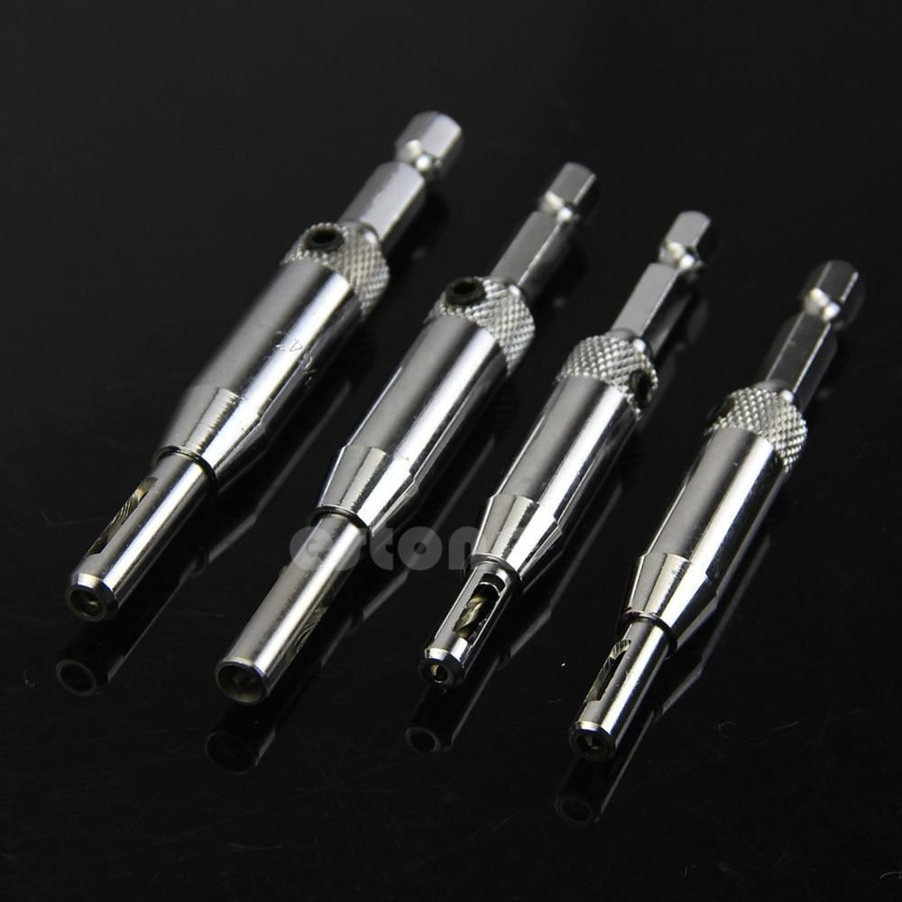 No.1 Self-Centering Drill Bits 4x precise Centered Hinge Drill Set