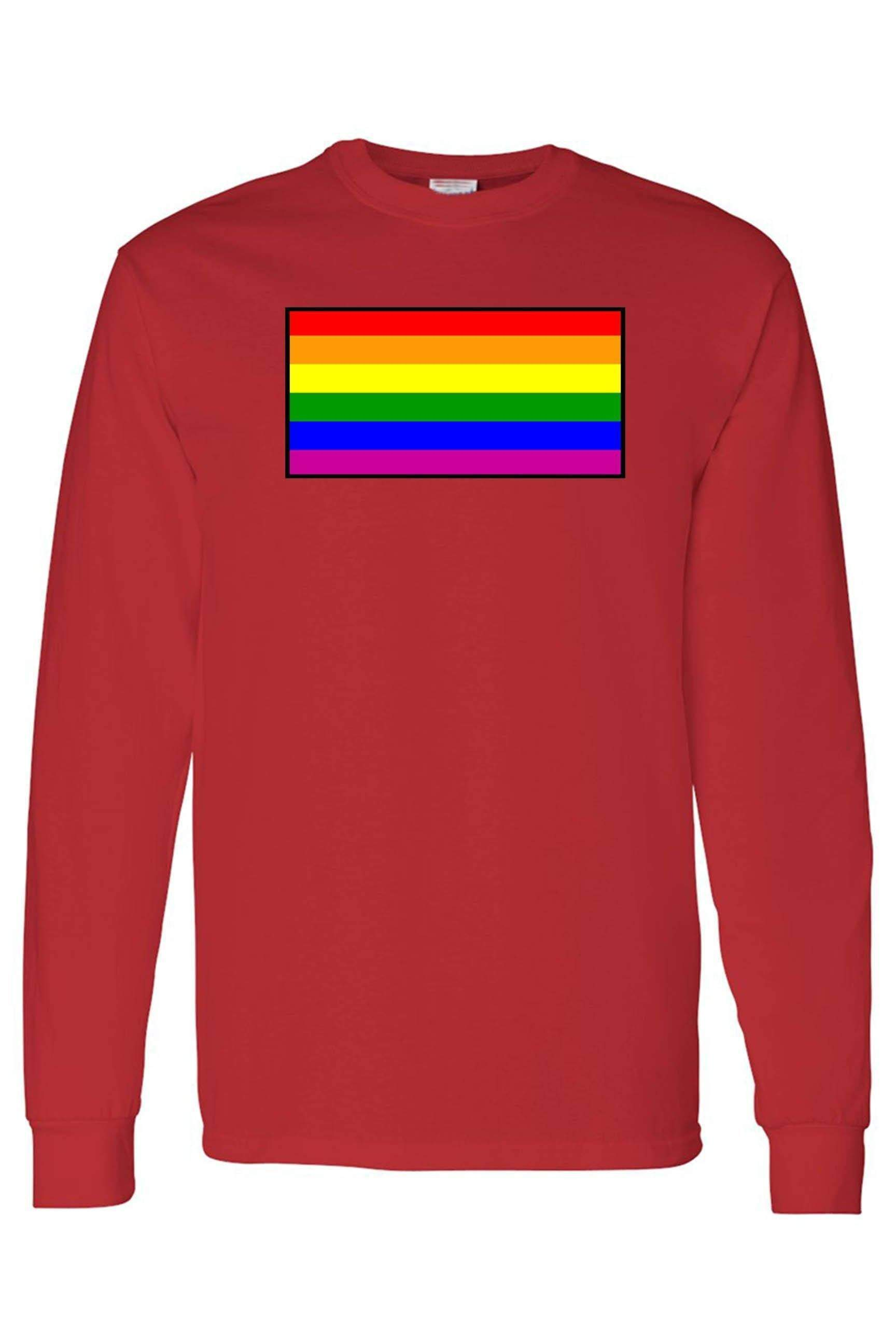 Unisex Long Sleeve Shirt Gay Pride Rainbow Flag