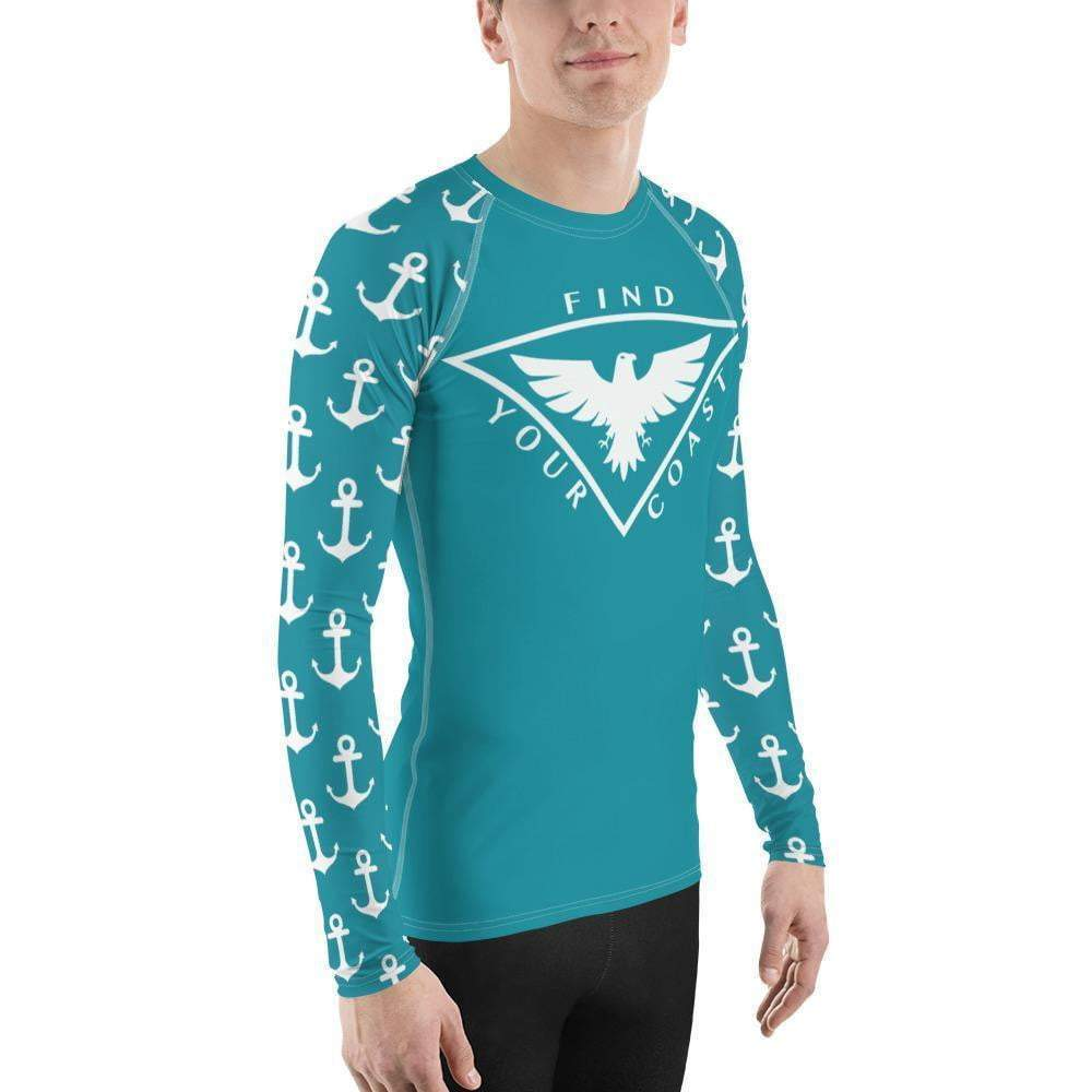 Men's Anchor Sleeve Performance Rash Guard UPF 40+