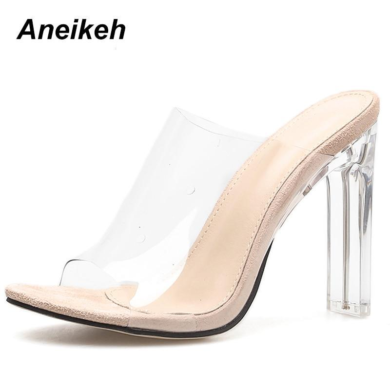 New PVC Jelly Sandals Crystal Open Toed Sexy Thin Heels