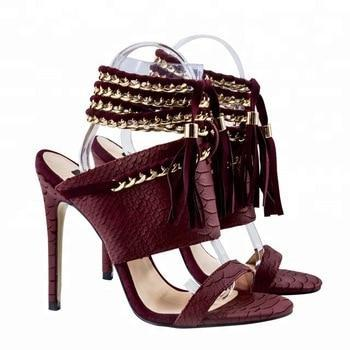 python leather ladies high heel fashion sexy luxury women sandal