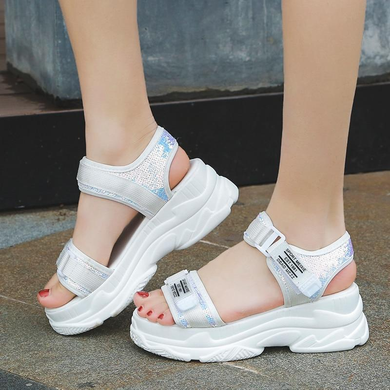 High Heeled Sandals Female  Women Thick Bottom Shoes