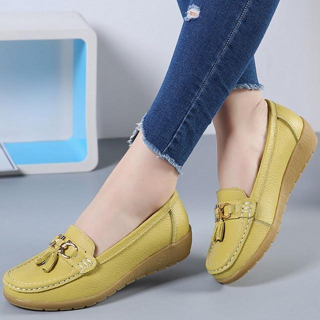 Genuine Leather Women Casual Shoes