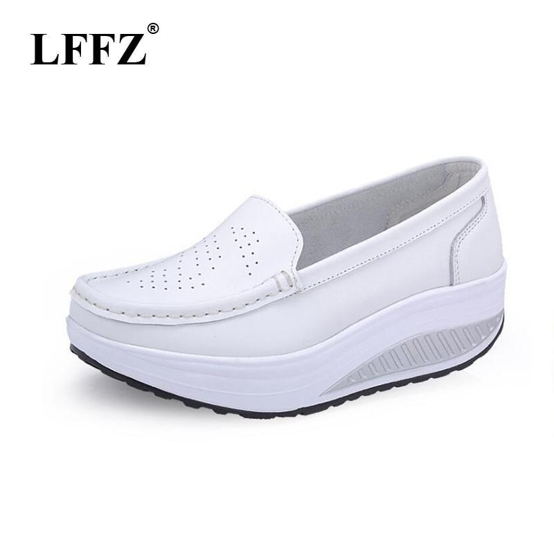 Women Flat Platform Shoes Woman White Nursing Shoes