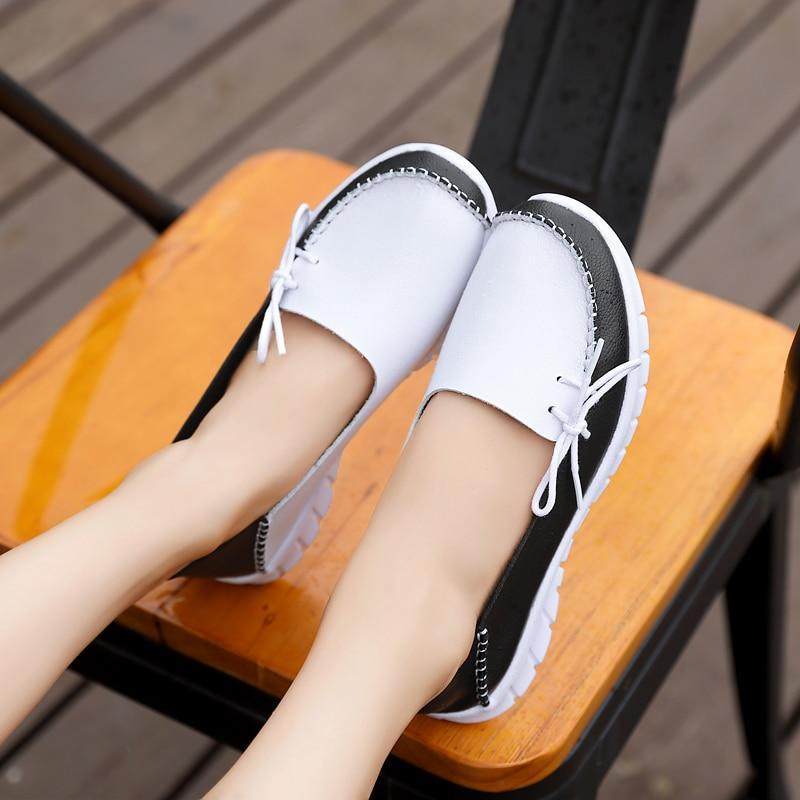 Loafers Women Light-weight Women Flats Lace-up Sneakers Shoes