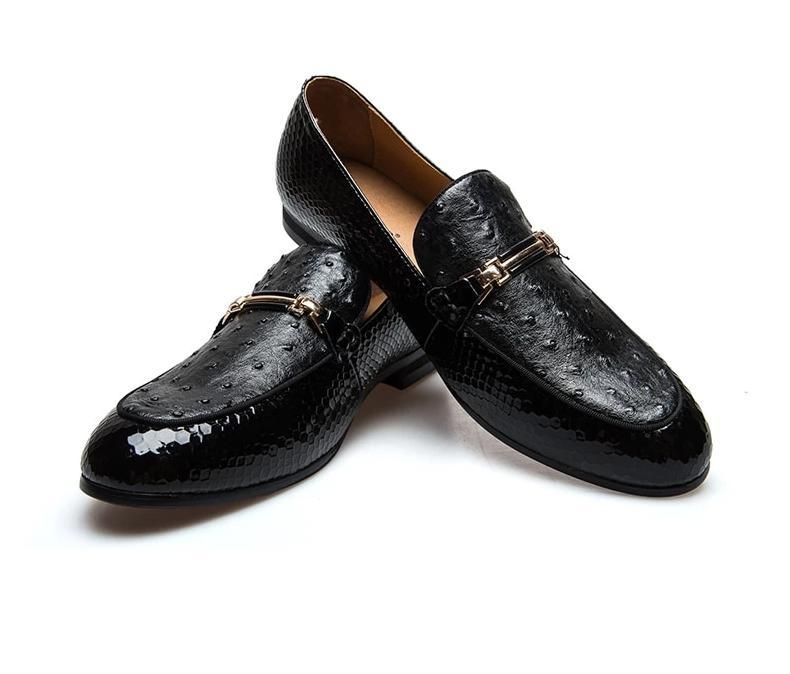 Casual Leather Black Men Shoes Luxury  Brand Loafers