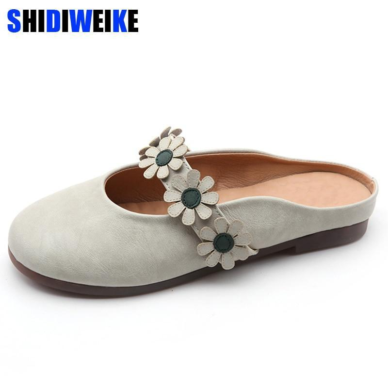 New Women Shoes Woman Leather Flat Shoes Fashion  flowers Loafers