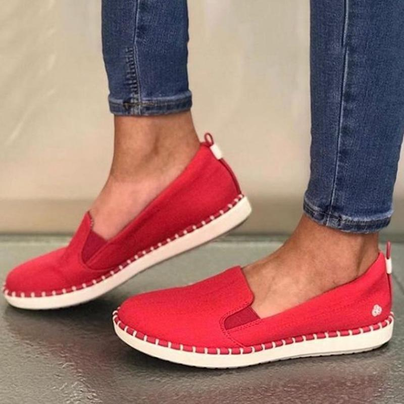 Women Flats Lazy Loafers Breathable Female Espadrilles Sneakers