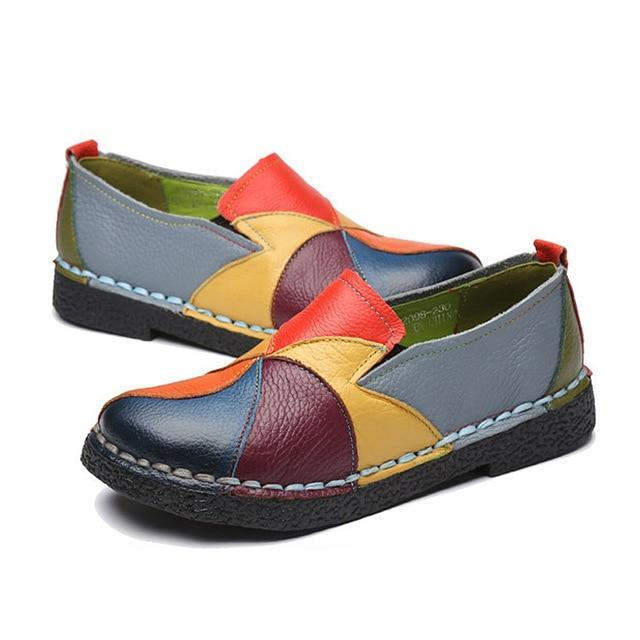 New Women Flats Women Shoes Genuine Leather Shoes