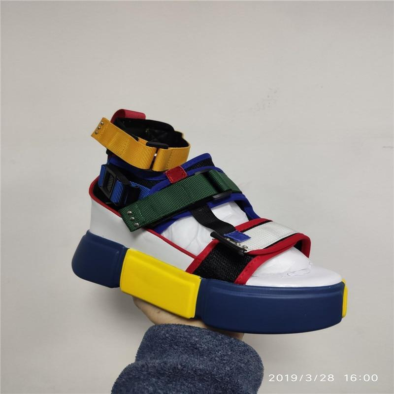 Blue Sandals Platform Women  Ladies Casual Shoes