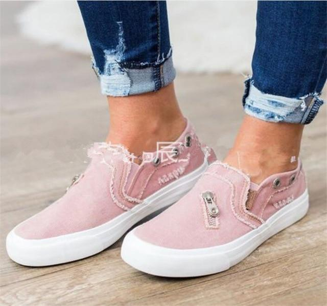 Women Round Toe casual shoes ladies Breathable sneakers