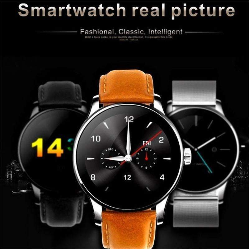K88H Smartwatch MTK2502 Bluetooth Smart Watch Heart Rate Monitor Pedometer Dial for Android IOS
