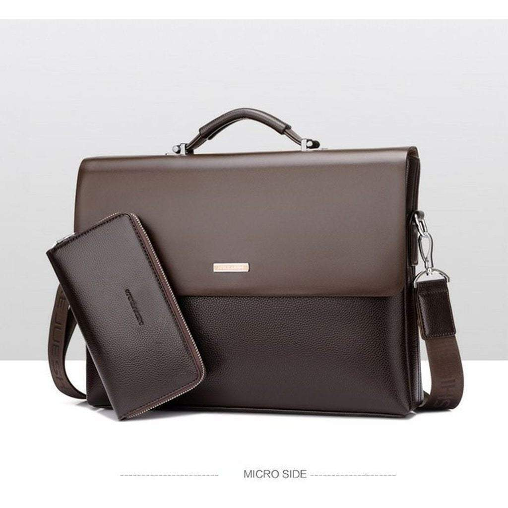 New Business Mens Leather Briefcase