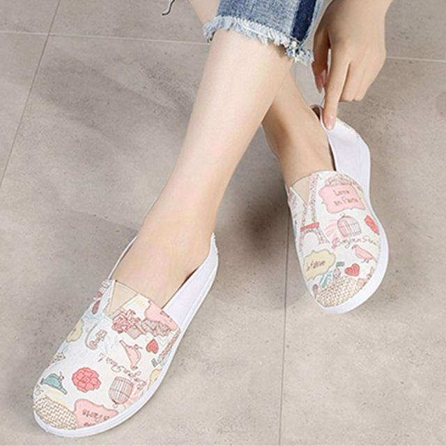 loafers women flats sneakers women shoes Canvas tenis feminino casual platform shoes