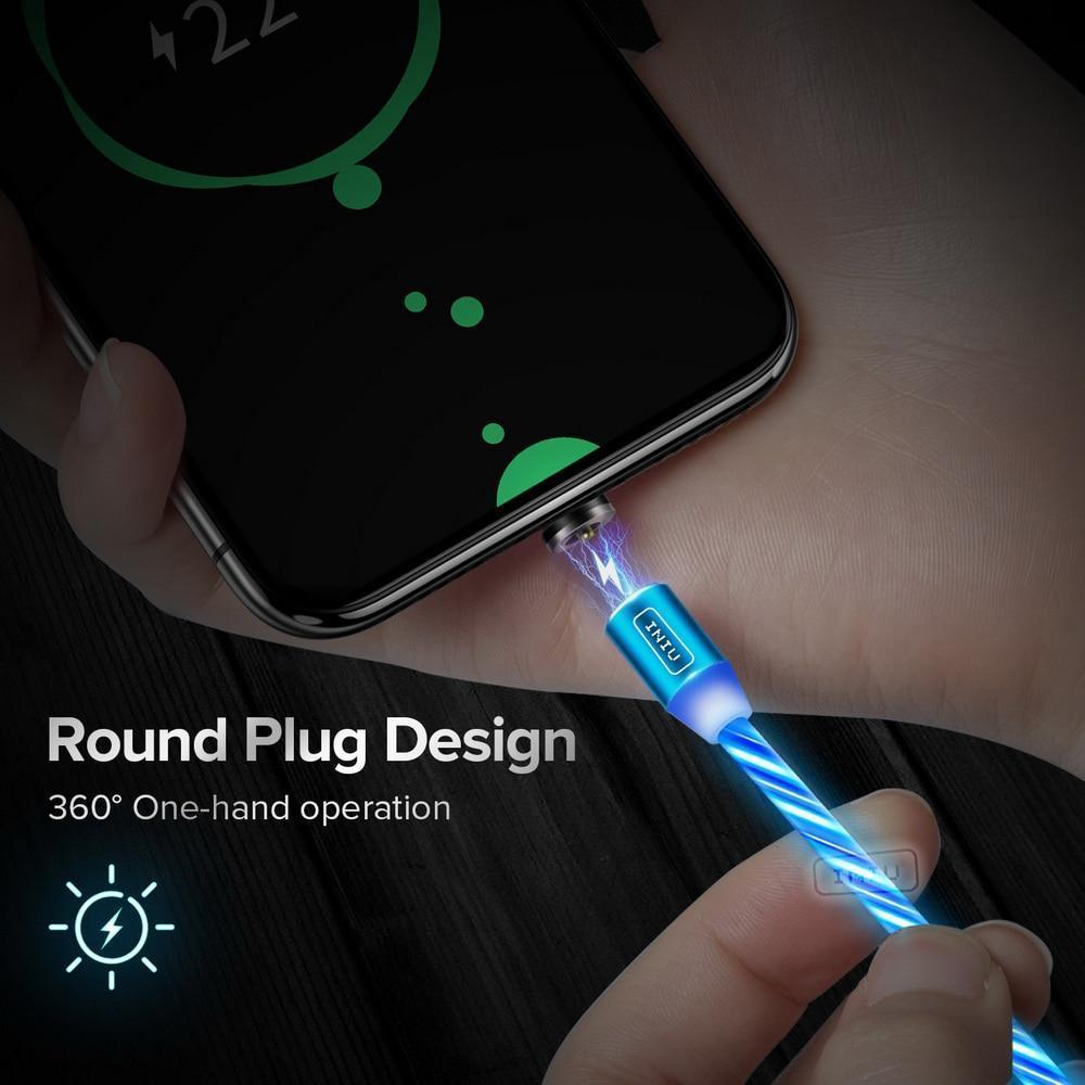 Magnetic Glowing Charging Cable