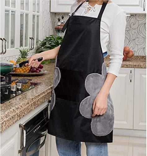 Kitchen Apron with Hand Wipers