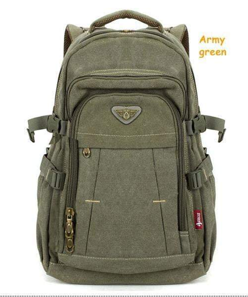 Man's Canvas Backpack Large Capacity Rucksack Shoulder Bag